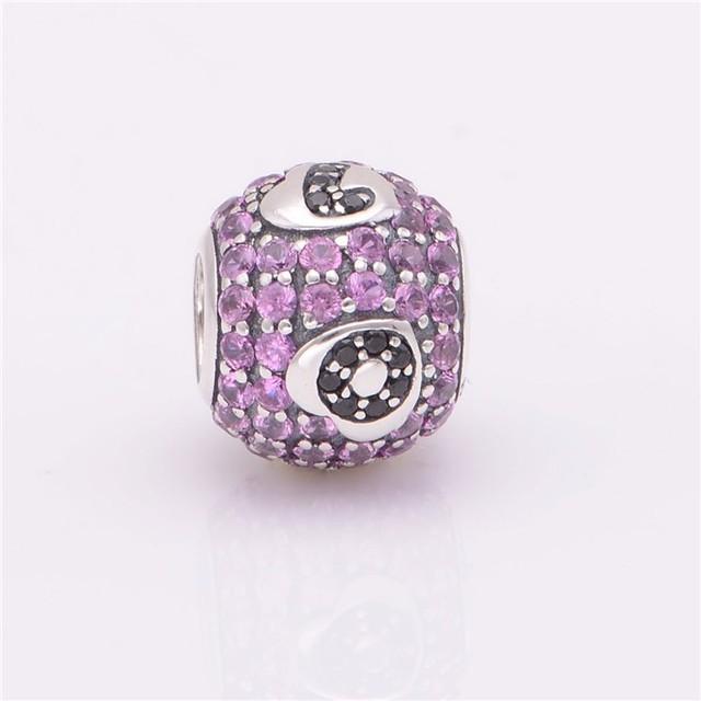 Стерлингового серебра 925 пробы украшения вымощает CZ камни бусины Fit европейских очаровывает браслеты для женщин DIY ювелирных украшений