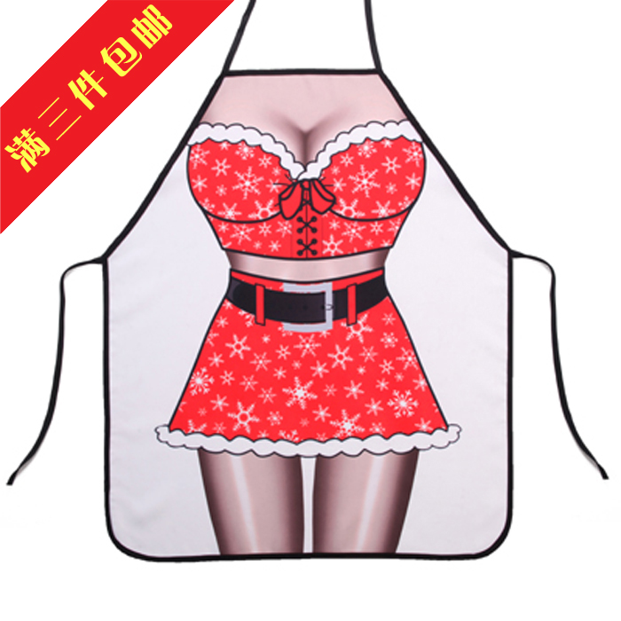 Free shipping sexy female Santa Claus aprons / Personalized Funny Creative / couple sexy gift lovers sexy gift(China (Mainland))