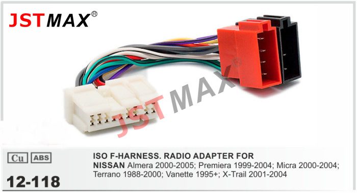 Nissan Wiring Harness Connectors : Jstmax iso cable car radio stereo adapter for nissan