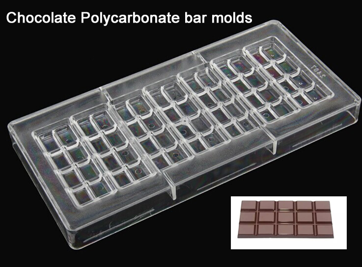 High quality 3D chocolate bar transparent plastic PC Polycarbonate chocolate candy molds moulds tools manufacturer from China(China (Mainland))