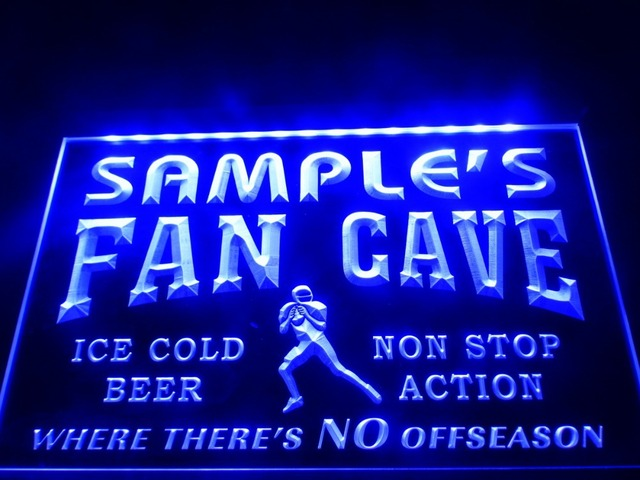 DZ065- Name Personalized Custom Football Fan Cave Bar Beer  LED Neon Light Sign