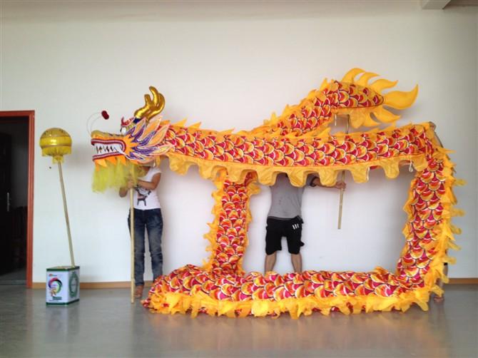 14m Length Size 3 silk print fabric  Chinese DRAGON DANCE ORIGINAL Dragon Chinese Folk Festival Celebration CostumeОдежда и ак�е��уары<br><br><br>Aliexpress