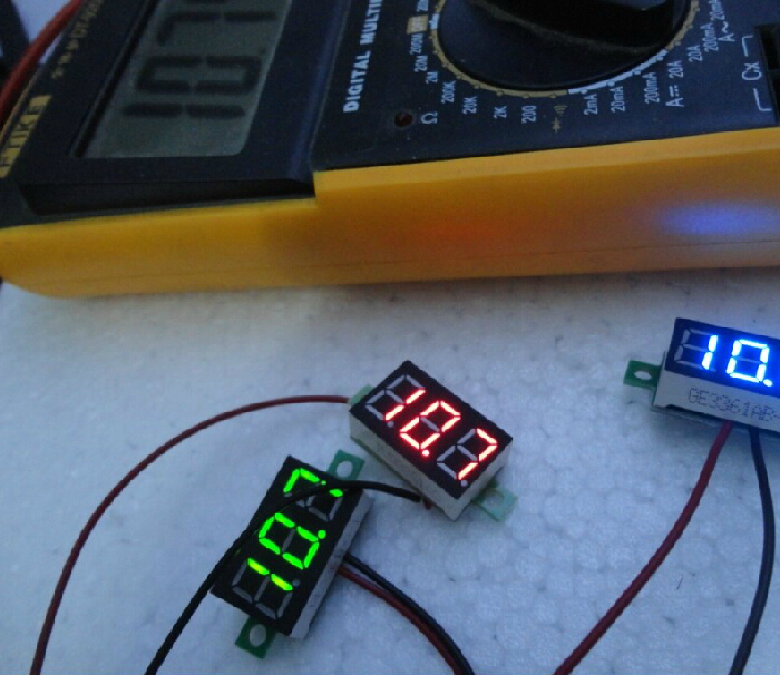 Mini 0.36 Digital Voltmeter dc 4.7-32V 2 wires Vehicles Motor Voltage Panel Meter led Display Color:Red(China (Mainland))