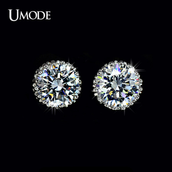 UMODE Multi Prongs 8mm 2ct Top Quality CZ Diamond Stud Earring UE0013