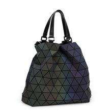 geometric baobao handbag women bag big European style luminous Lingge bao bao issey miyak tote fashion women's hand Shoulder bag