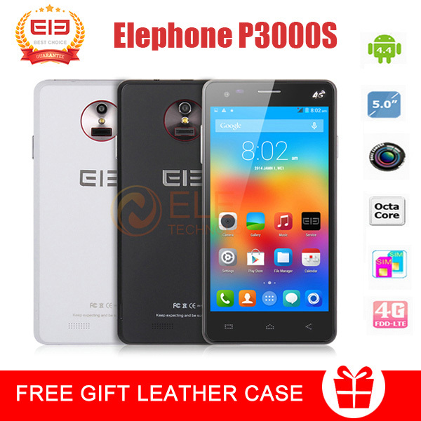 Elephone P3000S Mobile Phone 4G LTE 3G WCDMA 5.0 inch HD1280*720 octa Core 2GB RAM 16GB ROM Android4.4 OTG BT GPS WIFI free gift(China (Mainland))