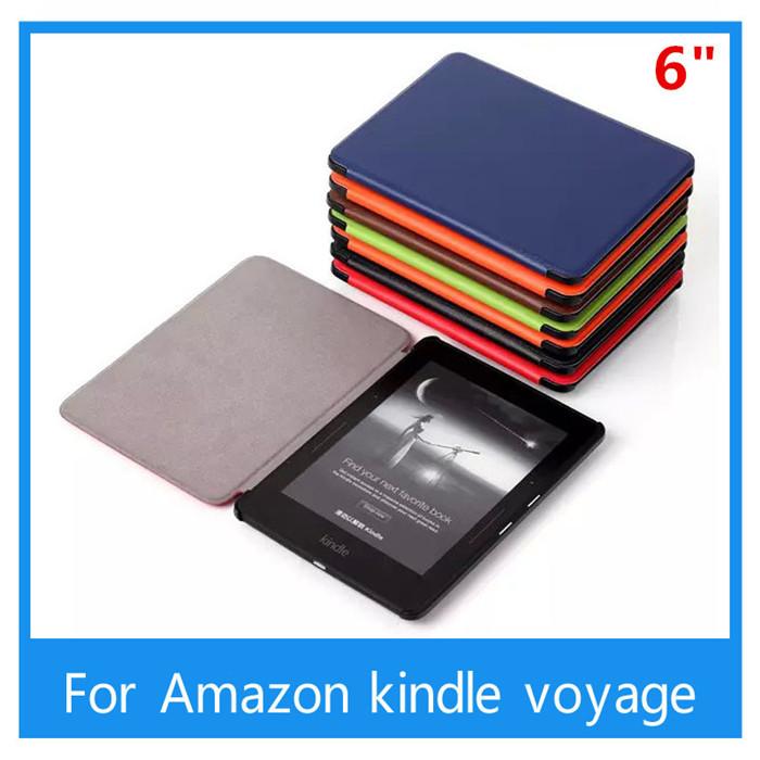 For Amazon kindle voyage 6inch Ereader Ebook Wholesale Luxury PU leather case cover +free Stylus(China (Mainland))