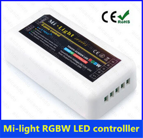 Mi-light series RGB+White Multi Zone led Controller-2.4G 4-Zone RGBW LED Controller wifi Compatible with Smartphone/Tablet PC(China (Mainland))