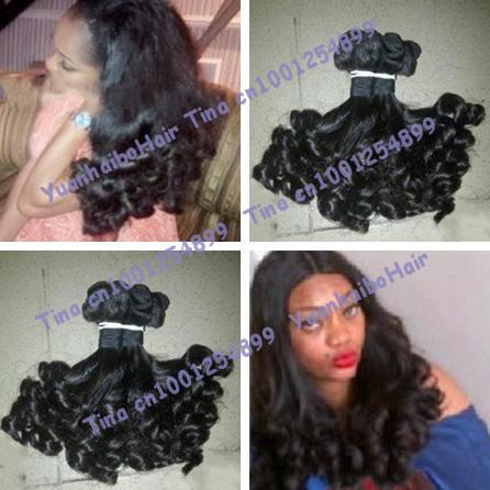 Grade 6A quality 3pcs/lot #1b aunty funmi human hair brazilian virgin hair extensions free shipping<br><br>Aliexpress