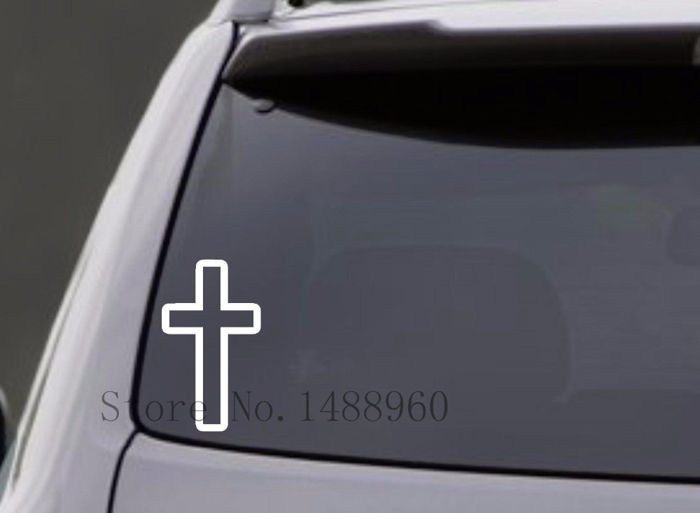 E772 Wall Stickers Home decor DIY poster mural Decal Nursery CROSS VINYL CAR WINDOW LAPTOP BUMPER GOD CHURCH RELIGIOUS JESUS(China (Mainland))