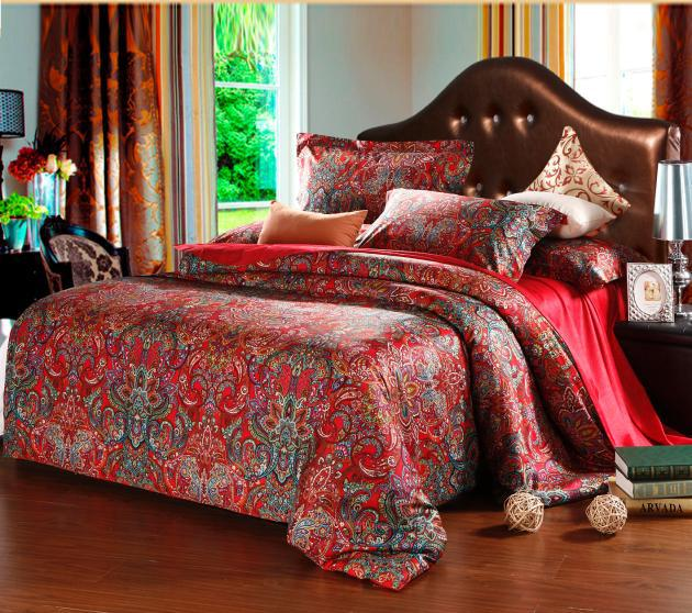 King Queen Size bedding comforter set red comforters sets ...