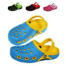 Nouveaux Summer 2015 EVA mode évider respirant enfants chaussures trou enfants plage sandales Boy filles chaussons enfants taille 30 - 35(China (Mainland))