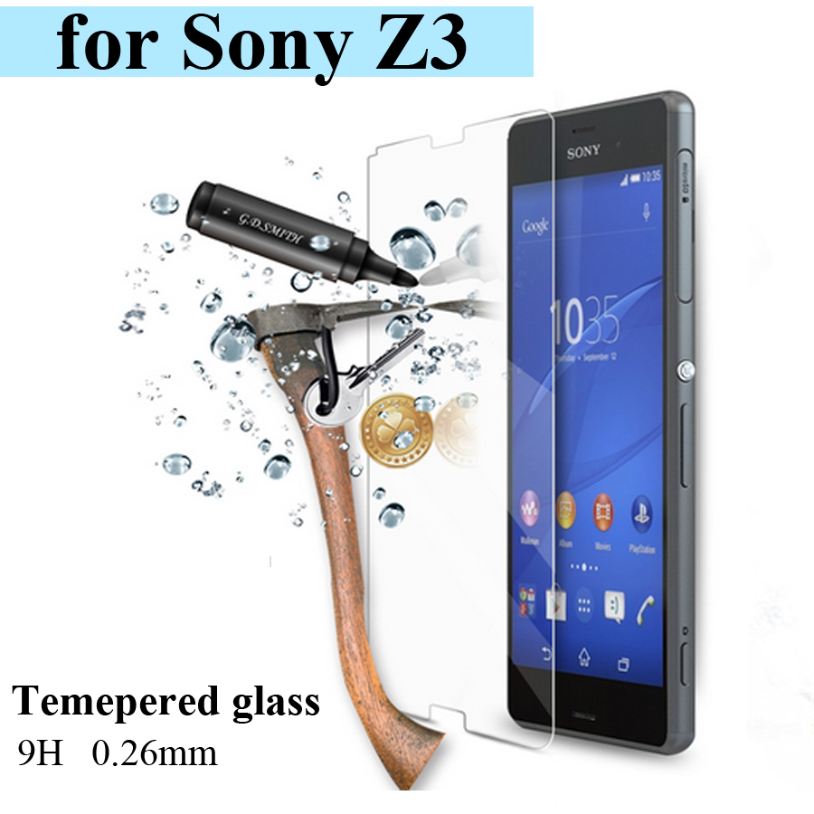 Tempered Glass Screen Protector For Sony Xperia Z3 ( L55 ) Films Anti-shatter Explosion Proof(China (Mainland))