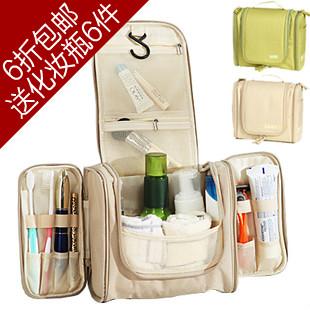 Free shipping 2015 brand large capacity waterproof cosmetic bag travel kit set wash bag beauty makeup case items CC27(China (Mainland))