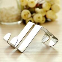 2PCS Stainless Steel Self Home Kitchen Wall Door Holder Hook Hanger Hanging Coat Hooks Free Shipping ZH263(China (Mainland))