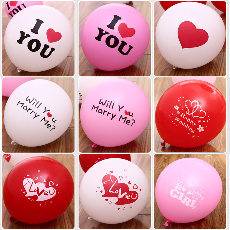 "100PCS 12"" Lovely Heart Ballons Balloons helium balloon White Latex Ballons globos Weding decoration Kids ball Marriage Balloons(China (Mainland))"
