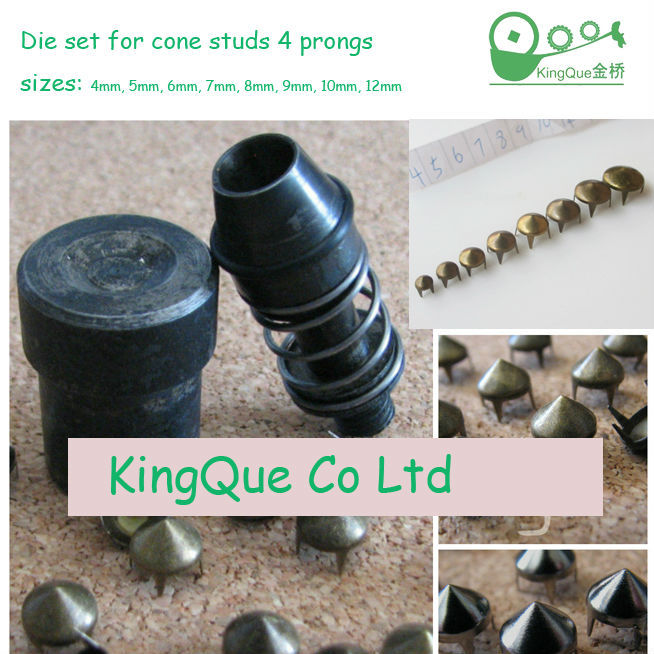 die set for cone studs with 4 prongs 2
