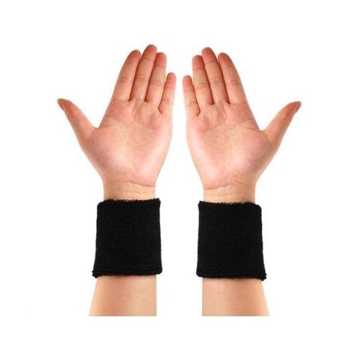 Wholesale 10* Neon Black Head & Wrist Sweatband Set for Gym Yoga Running Sports(China (Mainland))