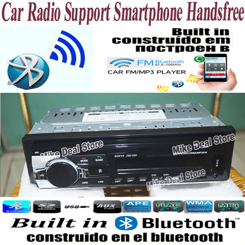 12V Car Radio Bluetooth Handsfree Support USB/SD MMC /AUX in Port Auto Stereo FM Radio MP3 Audio Player 1 Din In-Dash ZQC47(China (Mainland))