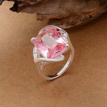Серебро кольца oem сша размер 7 8 9 на складе розовый серебро stmped 925
