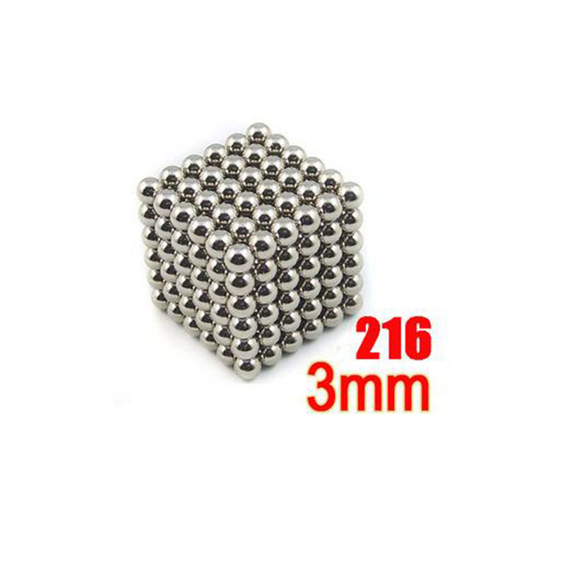 216pcs 3mm neodymium magnetic balls spheres beads magic cube magnets puzzle birthday present for children education neo cube(China (Mainland))