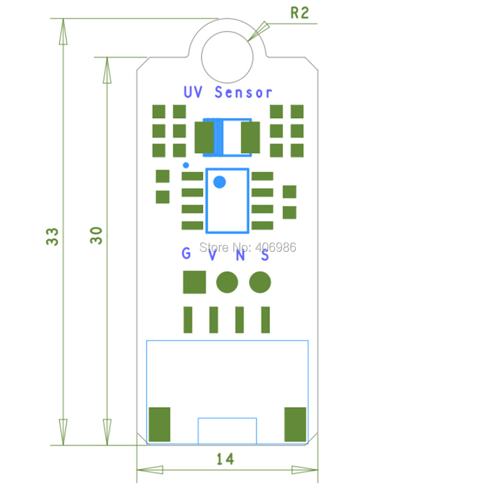 5pcs/lot UV Sensor 3.3 or 5V DC UV sensor module Brick Ultraviolet for Arduino Electronic Brick FZ1666