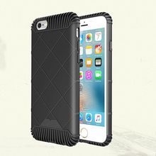 Hot sale! High Quality Luxury Shockproof soft TPU Plaid Armor phone case cover For iphone 5 5s/6 6s/6Plus phone protection shell