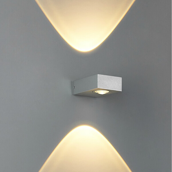 Modern 6W Up and down side lighting modern compact size two ways lighting waterproof outdoor led wall lights sconce(China (Mainland))