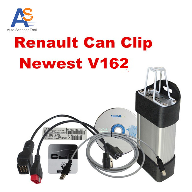 2016 Best Selling Renault Can Clip Newest Version V162 Auto Diagnostic tool for Renault Multi-languages with CNF Free(China (Mainland))