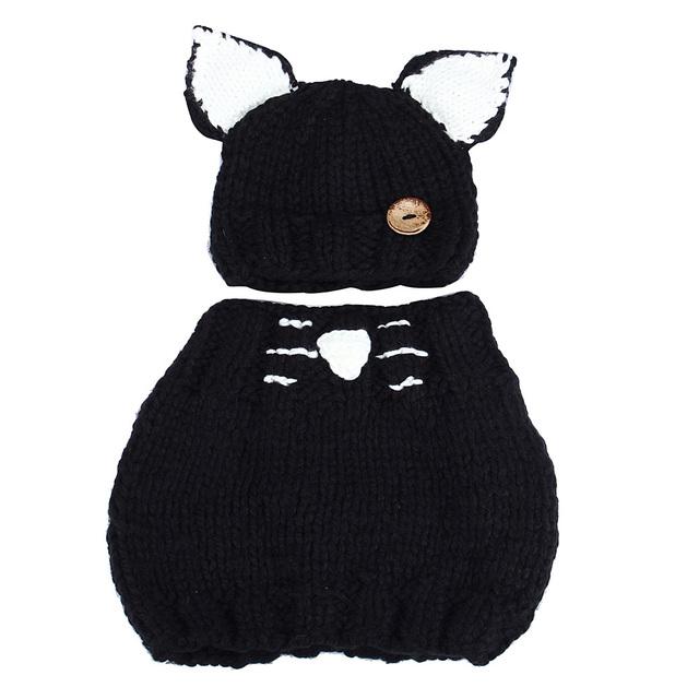 Мода Зима Шерсть Вязаный Кот Шляпы Для Девочки Платки С Капюшоном Капот Шапочка Ребенка Шапки
