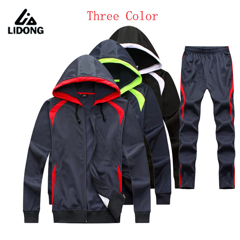2016 17 New Training Soccer jersey Long Sleeve Tracksuit Mens Kids Autumn and winter training clothes pants XXL 3XL(China (Mainland))