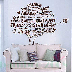 Family Tree Murals For Walls Family Tree Stickers For Walls   Home Design  Ideas Part 71