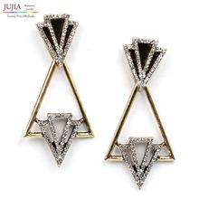 Fashion triangle earring women fashion design statement stud Earrings for women jewelry wholesale(China (Mainland))