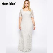 Elegantní dámské bílé šaty větších velikostí –  XXL – 9XL