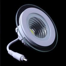 LED Downlight COB Dimmable 7W 10W 12W 15W 20W 30W LED COB Panel Light AC85-265V Recessed COB Downlight Glass Cover LED Spot bulb()