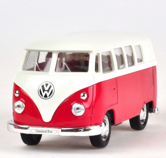 1:36 Delicate Toy Car Volkswagen Classical Bus Alloy Car model belt WARRIOR Free Shipping Russia Brazil Welly Brand(China (Mainland))