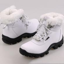 Moda 2016 zapatos ocasionales del deporte de las mujeres zapatos de la felpa caliente botas de invierno botas de nieve de color sólido(China (Mainland))