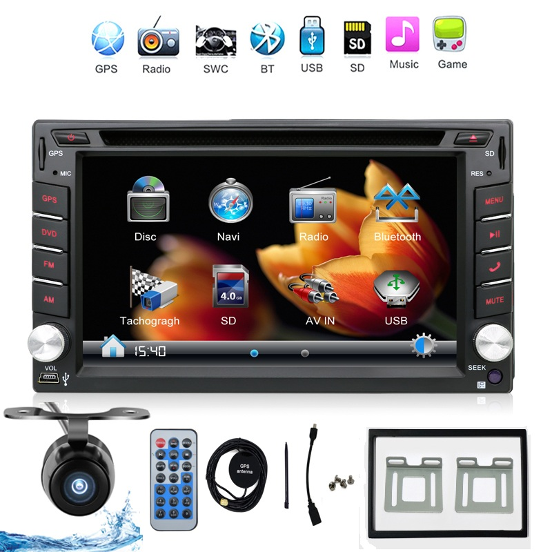 2016New Universal Car Radio Double 2 Din Car DVD Player GPS Navigation In Dash Car PC Stereo Head Unit 3G USB BT IPOD FM RDS Map(China (Mainland))