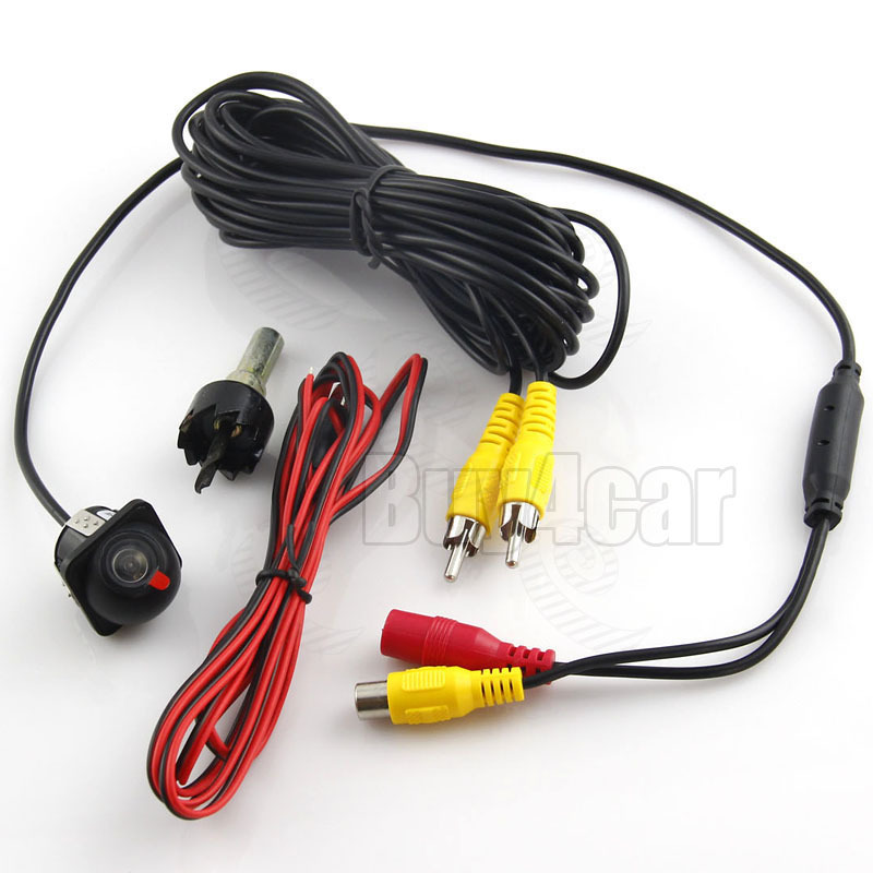 Universal Car auto Mini Color CCD Rearview Camera Rear 170 Degree View Angle Night Vision Waterproof Reverse Back up DVD #4348(China (Mainland))