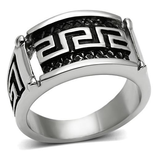 Fashion Secret New High Polishing Stainless Steel with Anti Unisex Embossed Ring Men Fashion Ring Lead & Nickel Free No Coating(China (Mainland))