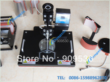 Heat press machine for printing different kinds of materials, such as mugs, plates, caps, t-shirts and so on