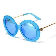 Ralferty New Ladies Round Sunglasses Women Fox Transparent Candy Color Sun Glasses UV400 Coating Glasses Female Oculos 9316(China (Mainland))