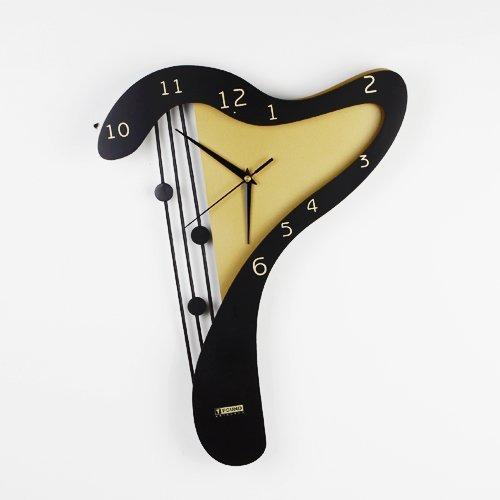 Free shipping wholesale and retail/ seven shape new idea fashion wall clock