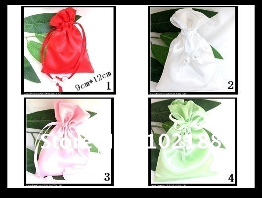 !Affordable jewelry bags, drawstring bag 9cm * 12CM satin pearl - Ningguo Stylish Convertible Gift Packaging Plant store