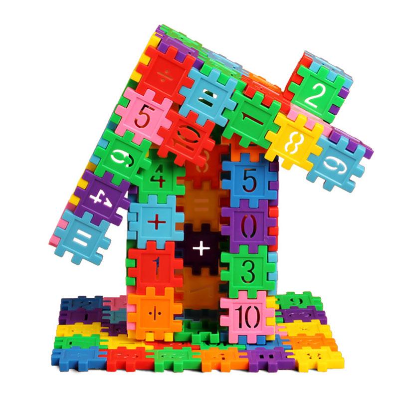 Children Building Blocks DIY Assembling Classic Toys Plastic Blocks Educational Toys Creative Construction Developmental Toy(China (Mainland))