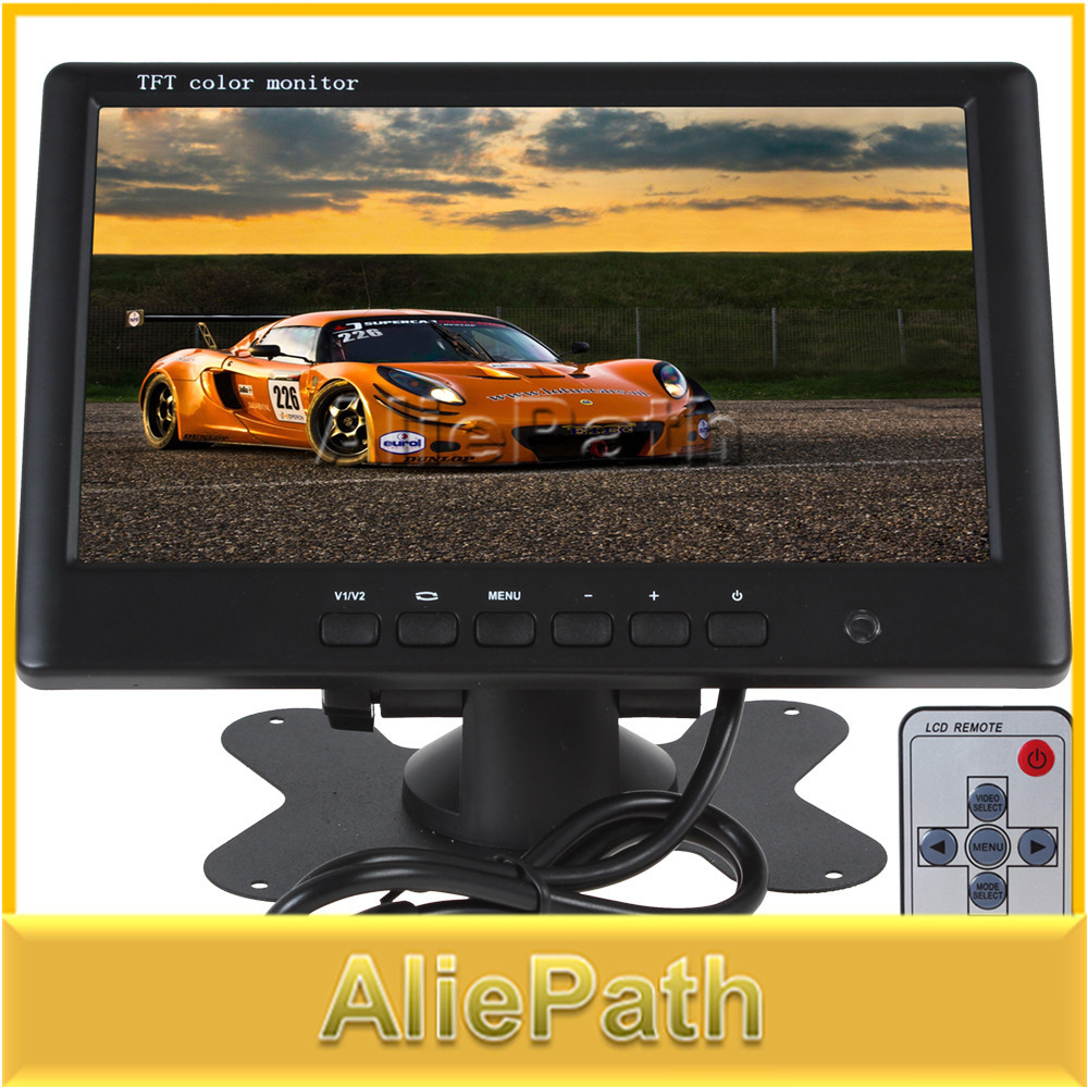 HD 800 x 480 Super Thin 7 Inch Color TFT LCD 2 Channels Video Input Car Rear View Monitor(China (Mainland))