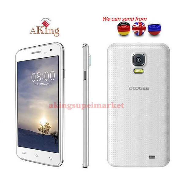 From UK or Germany or CHINA Original Doogee DG310 Quad Core MTK6582 1G+8G 5.0 inch Dual SIM Cell Phone(China (Mainland))