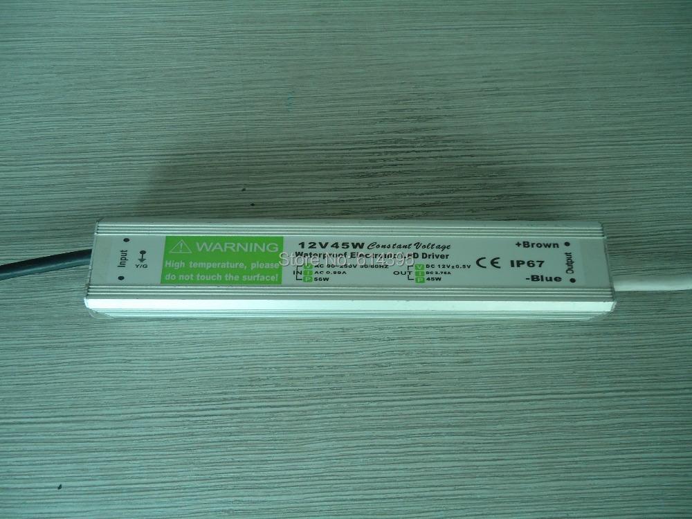 Трансформатор освещения Hi-power LED 12V DC 12V 45 3.75a AC170V 250V TAF-A1245E