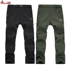 Buy UNCO&BOROR Shark Skin Softshell Outwear Tactical Pants Men women Winter Waterproof Thermal Camo Fleece Pants brand male Trousers for $23.98 in AliExpress store