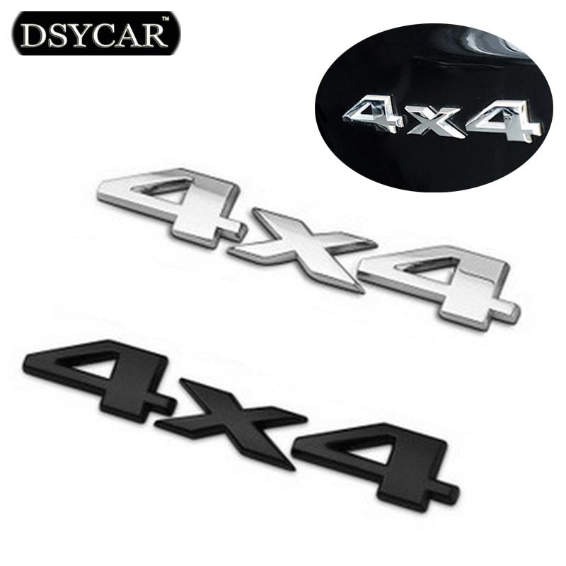 DSYCAR 3D 4x4 Four wheel drive Car sticker Logo Emblem Badge Car Styling for Fiat Bmw Ford Honda volkswagen Audi toyota opel DS(China (Mainland))